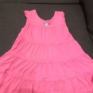 Hanna Andersson pink layered dress (size 80)